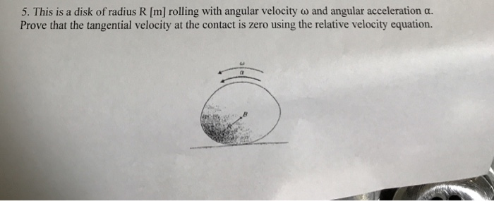 tangential velocity equation. this is a disk of radius r [m] rolling with angular velocity tangential equation