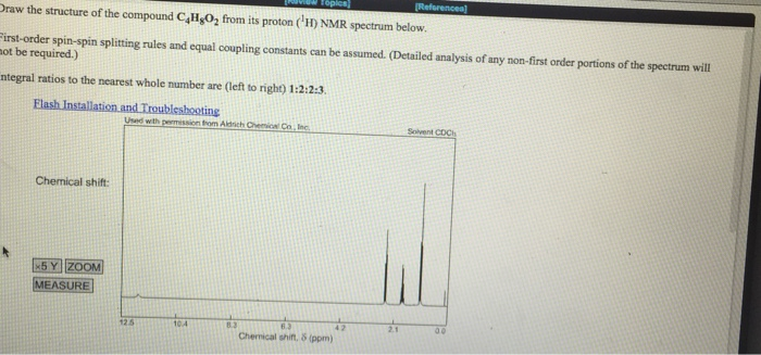 how to draw structure from nmr data