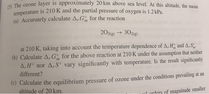 The Ozone Layer Is Approximately Km Above Sea L Cheggcom - Above sea level calculator