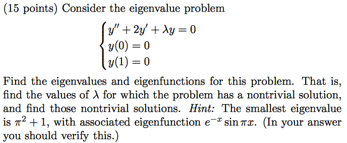 how to find eigenspace given eigenvalue