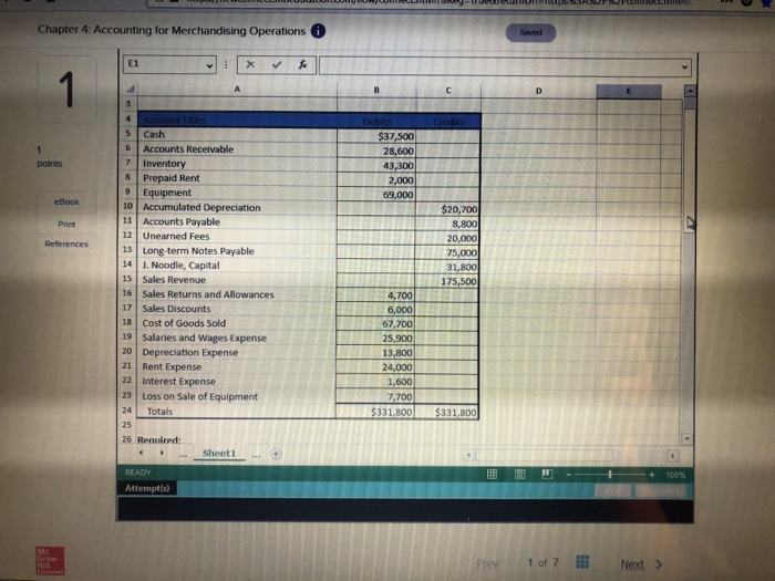 Accounting archive february 13 2018 chegg chapter 4 accounting for merchandising operations 1 prepare and analyze a merchandisers multi step income statement merchandising operations and the fandeluxe Choice Image