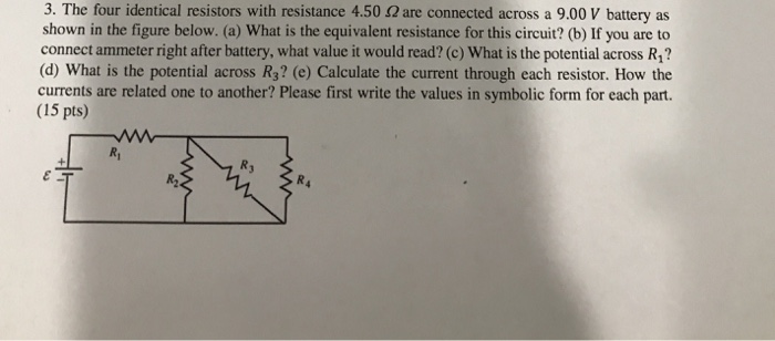 Question A Threebulb Circuitwhen A Single Lowresistance