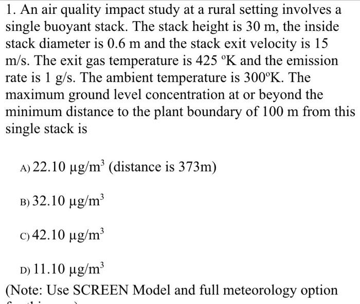 air pollution study questions q a Exam study guides: environmental issues as i intentionally design questions that issues ie industrial air pollution (so 2.