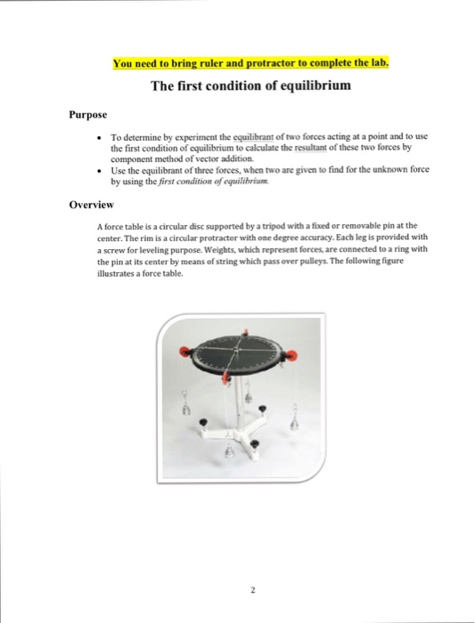 an overview of the equilibrant vector in an experiment The force table – vector addition and  describe what we mean by the terms resultant and equilibrant in relation to the forces acting in this experiment 4: .
