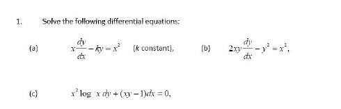 how to solve for c in differential equations