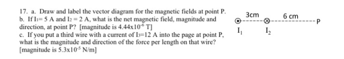 Draw and label the vector diagram for the magnetic chegg draw and label the vector diagram for the magnetic fields at point ccuart Image collections