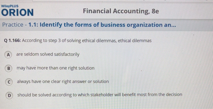 Accounting archive november 21 2017 chegg wileyplus financial accounting 8e orion practice 11 identify the forms of business organization fandeluxe Image collections