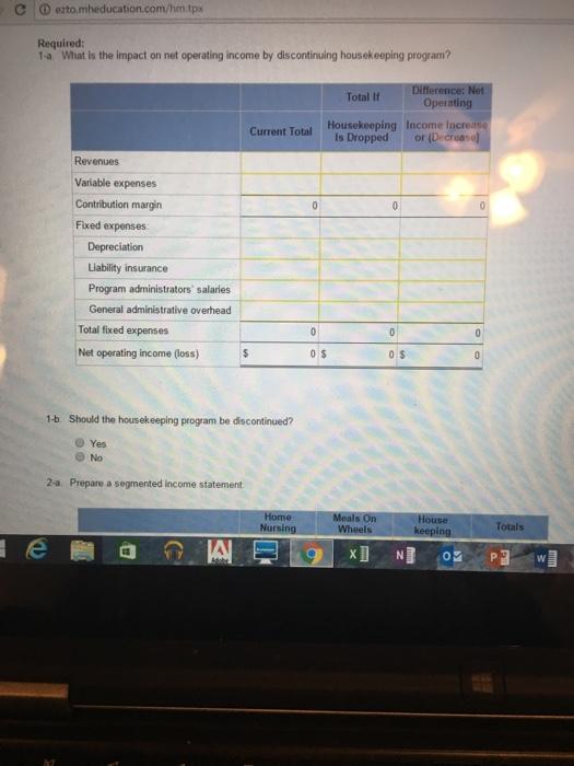 Question: M Chapter 12 Homework x C D eztomheducation.com/hm.tpx Jackson County Senior Services is a nonpro...