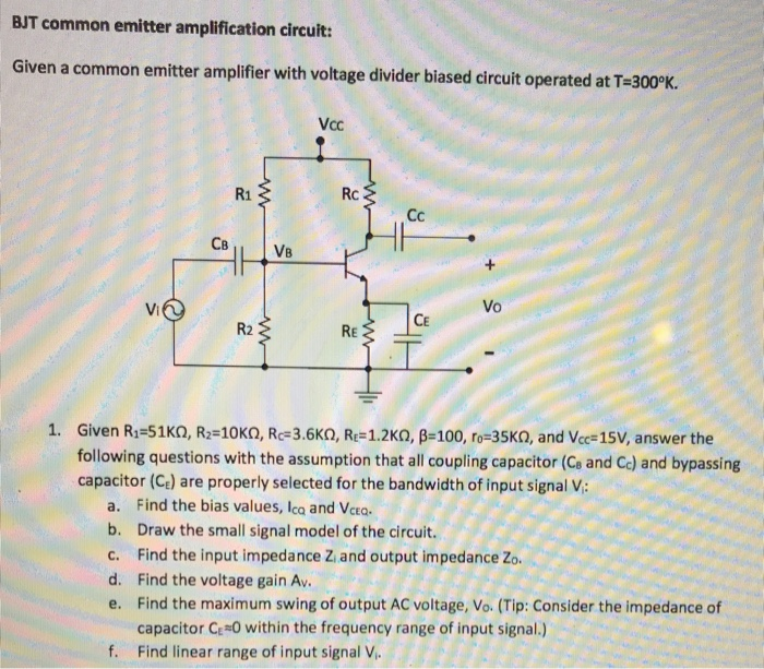 bjt common emitter amplifier