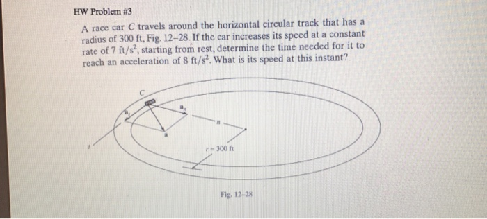 A Car Is Traveling Around A Horizontal Circular Track