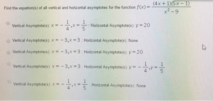 how to find equation of vertical asymptote