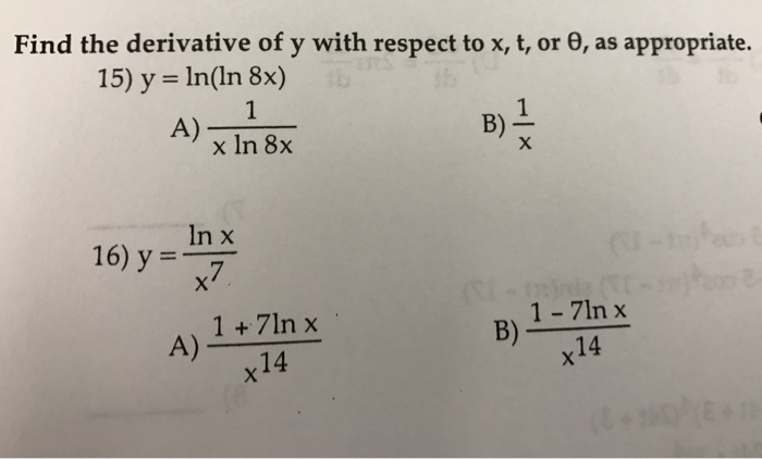 how to find the derivative of 1 over x