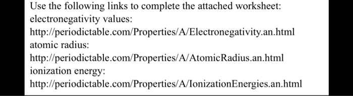 Chemistry Archive July 13 2017 – Ionization Energy Worksheet