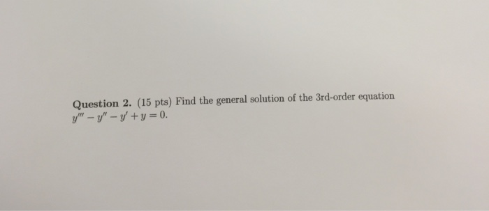 how to solve 3rd order equation