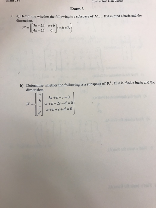 how to find the basis and dimension of a subspace