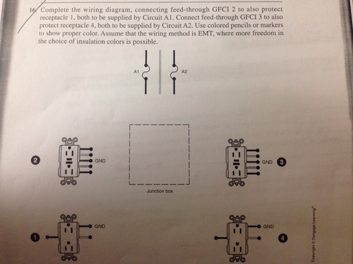 Solved complete the wiring diagram connecting feed throu complete the wiring diagram connecting feed through gfci 2 to also protect receptacle 1 cheapraybanclubmaster Choice Image