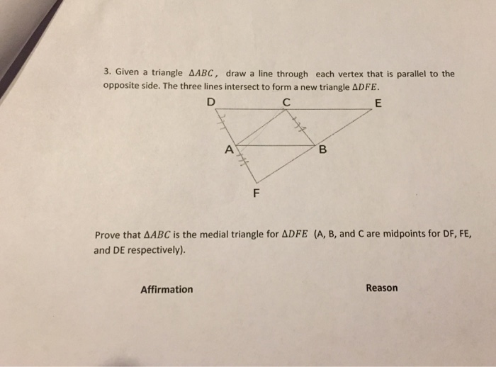 Drawing Parallel Lines With Triangles : Geometry archive may chegg