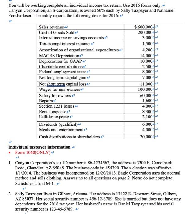 individual tax return 2016 pdf