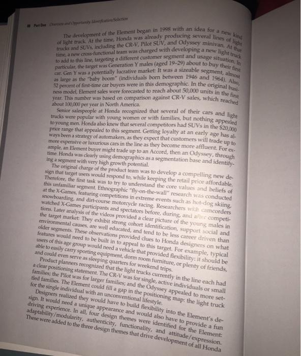 honda case study b