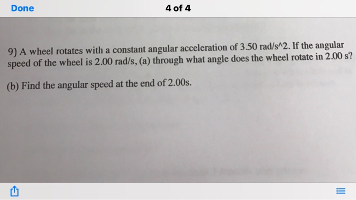 how to find constant angular acceleration