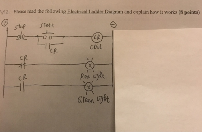 Solved 12 please read the following electrical ladder di please read the following electrical ladder diagram and explain how it works 8 ccuart Gallery