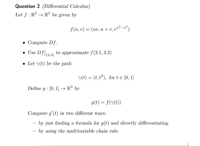how to use chain rule for differentiating e