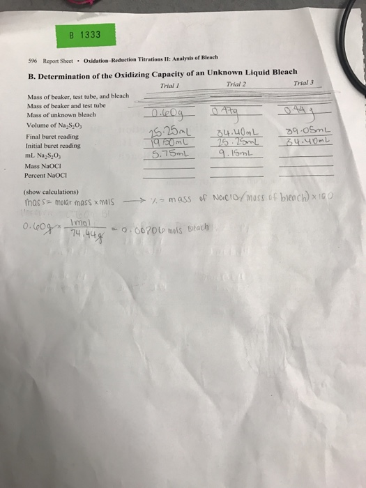 chemical determination of an unknown liquid experiment 1 title: determination of the density of an unknown liquid  such  as whenever a chemical conversion is taking place and energy is being.