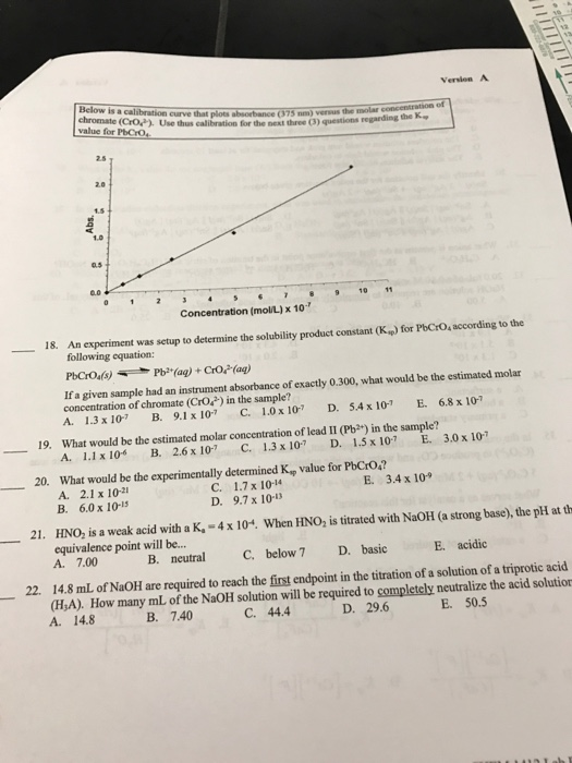 Halloween Worksheets For 3rd Grade Chemistry Archive  May    Cheggcom Converting Units Worksheet Excel with Hud Rent Calculation Worksheet Pdf Version A Below Is A Calibration Curve Am Versus Questions Regarding The  Chromate Croa Grade 5 Subtraction Worksheets Excel