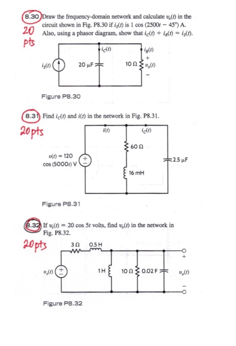 Solved 830 draw the frequency domain network and calcula 830 draw the frequency domain network and calculate v in the circuit shown ccuart Image collections