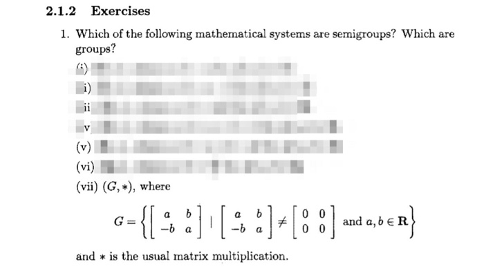 Which Of The Following Mathematical System Are Sem... | Chegg.com