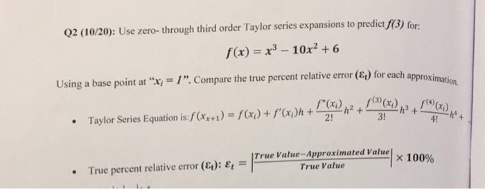 how to find the base point of a taylor polynomial