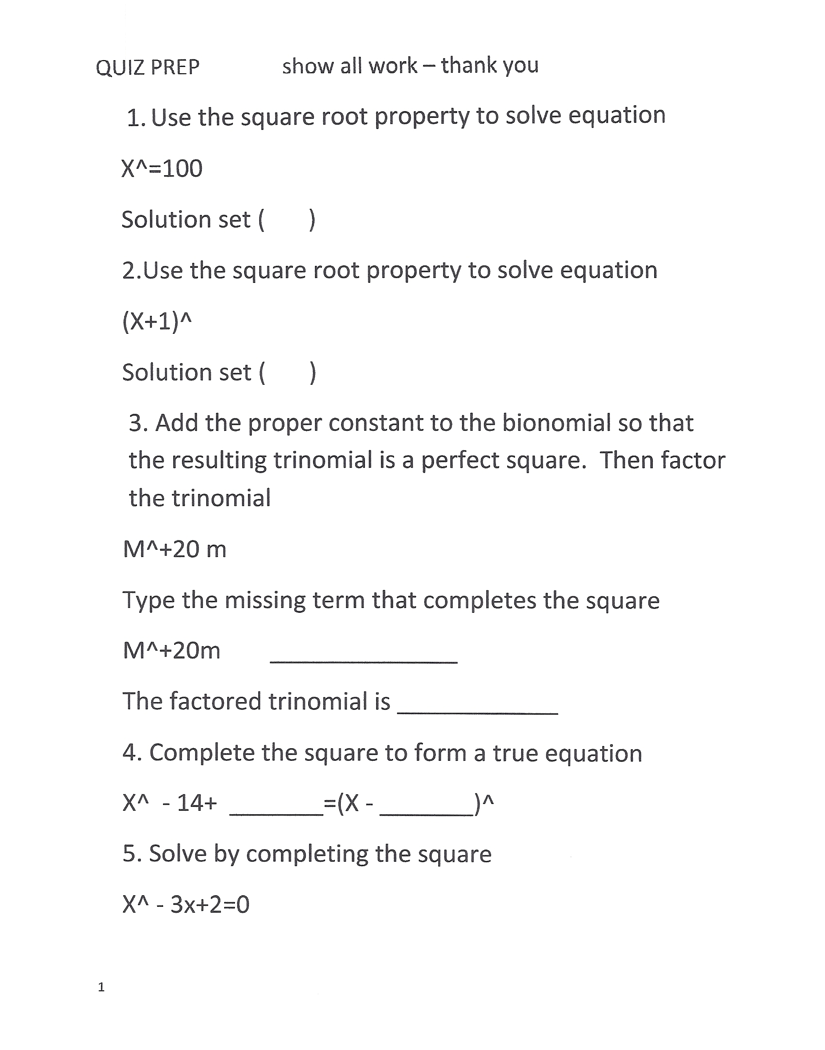 factoring perfect square trinomials worksheet Termolak – Perfect Square Trinomial Worksheet
