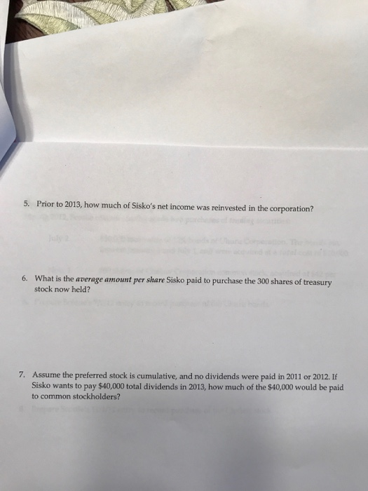 Question: Problem 2: Stockholders' Equity (22 points) Sisko Corporation's December 31, 2012 balance sheet i...
