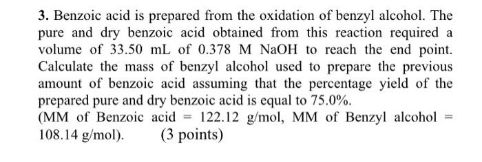 Benzyl alcohol essay