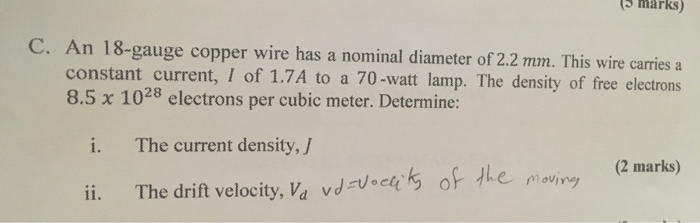 An 18 gauge copper wire has a nominal diameter of chegg 5 marks c an 18 gauge copper wire has a nominal diameter greentooth Images