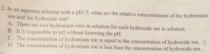 how to find the hydroxide ion concentration of a solution