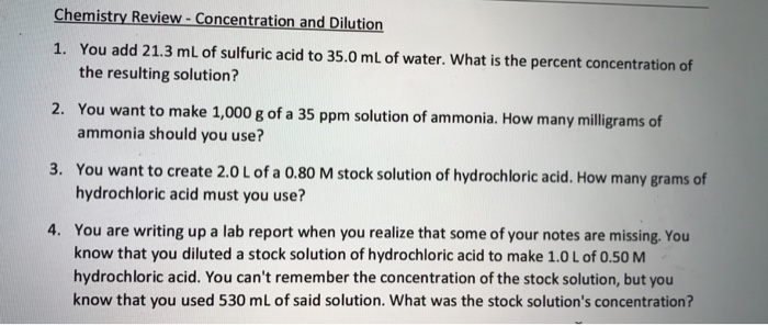 chemistry concentration essay Gcse chemistry revision: concentration and rate of reaction you can watch all my videos at wwwfreesciencelessonscouk in this video.