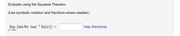 squeeze theorem homework help