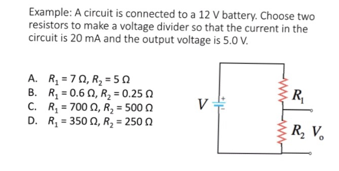 Solved Example A Circuit Is Connected To A 12 V Battery