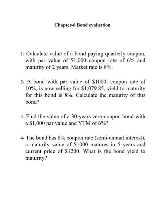 answer to the bond evaluation selection Answer the questions on the following pages with one specific financial goal in   you owned bonds during this period, please select the answer that matches your   scenarios, with various sets of assumptions, to evaluate a wide range of.