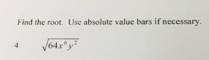 how to get rid of absolute value bars