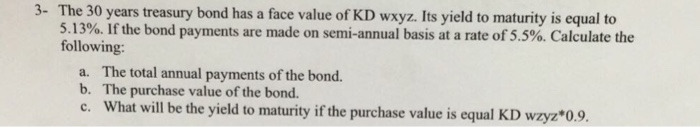 how to find face value of a bond