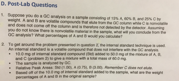 chromatography questions essay Introduction chromatography is a technique used to separate a mixture into its individual forensic science lab questions 1 haven't found the essay you want.