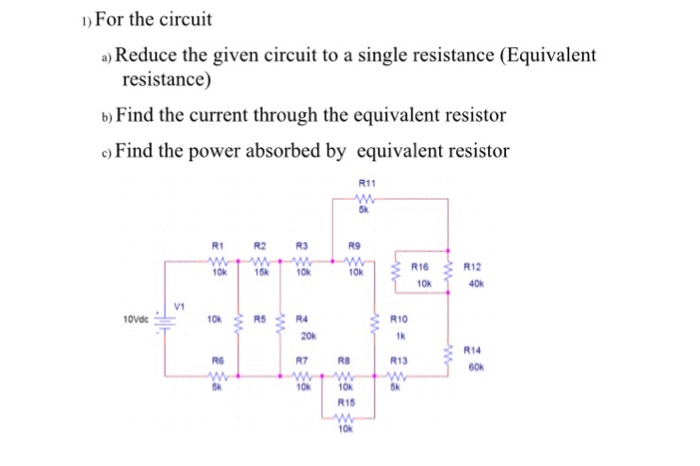 how to find resistance when given power