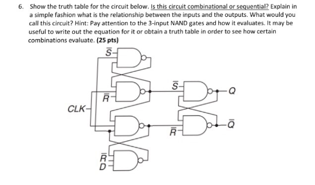 Solved: Show The Truth Table For The Circuit Below. Is Thi ...