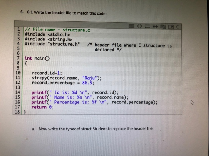 how to write a header file