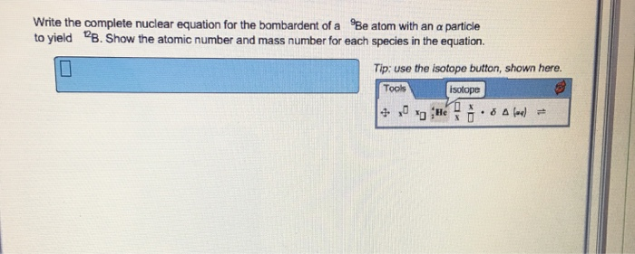 how to write a nuclear equation