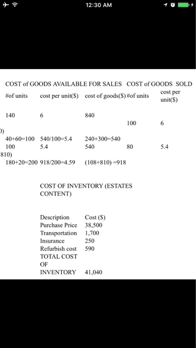 questions on inventory costing Have a specific accounting question try our  how do you calculate the cost of  carrying inventory  are transportation-in costs part of the cost of goods sold.