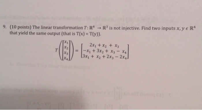 how to find the kernel of a linear transformation