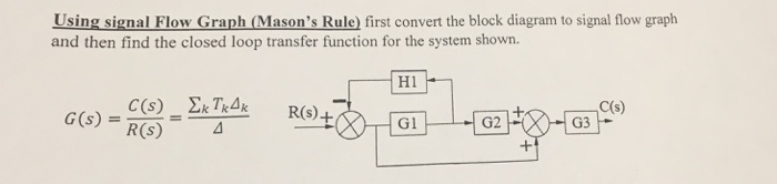 Solved using signal flow graph masons rule first conve using signal flow graph masons rule first convert the block diagram to signal flow ccuart Gallery